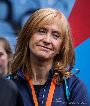 Jackie Bird at the 2016 Edinburgh Kiltwalk