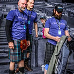 Outlander Team at Edinburgh Kilt Walk 2014