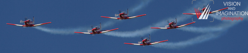 Roulettes aerobatic fly-by