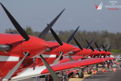 Roulettes lined up