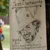 I really liked the Wanted poster tied to a tree.