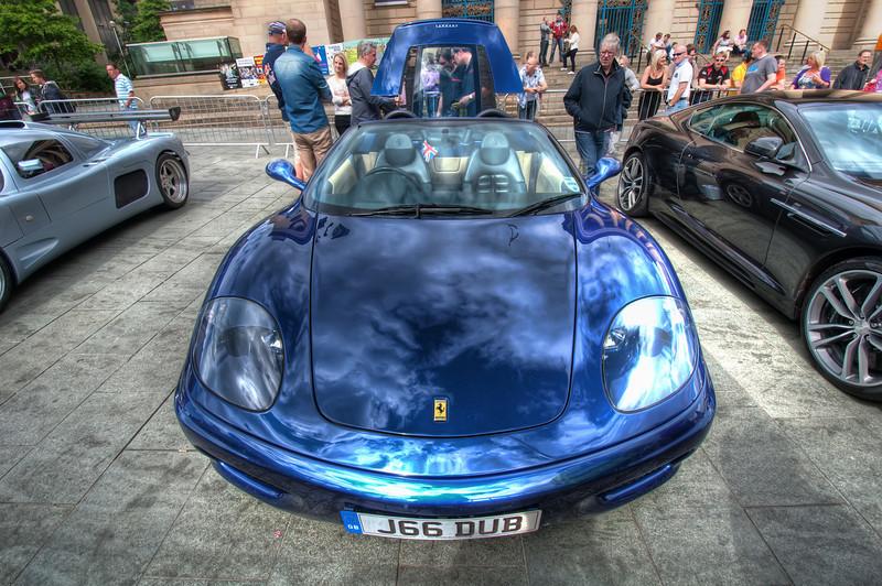 Ferrari-360-Front-Blue-Sheffield-City-Hall-HDR-2