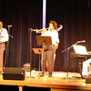 Leon Devers and Shelley Carrol on stage with Ray L Baker.