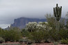 Then I took some pictures of the Superstition Mtns shrouded in low clouds.
