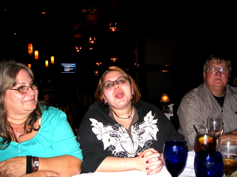 Mom, Jessi, and Dad.  Apparently, Jessi wasn't pleased.