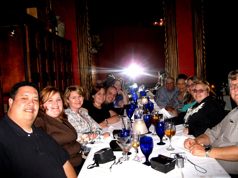Here is everyone!<br /> <br /> Mark, Cassie, Karen, Me (Hilliary), Jonnie, Kat, J's dad, J's mom, my mom, Jessi, and my dad.  <br /> <br /> Dinner was delicious.