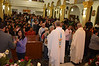 The church was bursting at the seems during the Eucharist
