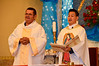 Fr. Joseph Dinh, SCJ,  (right) is a priest in residence at OLG while doing advanced studies.
