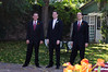 Me and my groomsmen, Brian and Chad.