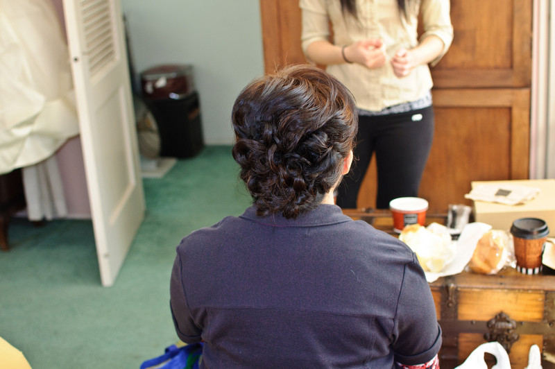 Connie's mom's hair came out looking great!