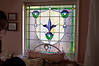 Cool stained glass in the bride's room.