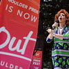 "Miss Eda Bagel sings her heart out during the entertain side of the pride festival.<br /> The 8th Annual Out Boulder Pride Festival was held in Central Park on Sunday.<br /> For more photos and a video, go to  <a href=""http://www.dailycamera.com"">http://www.dailycamera.com</a>.<br /> <br /> Cliff Grassmick / August 28, 2011"