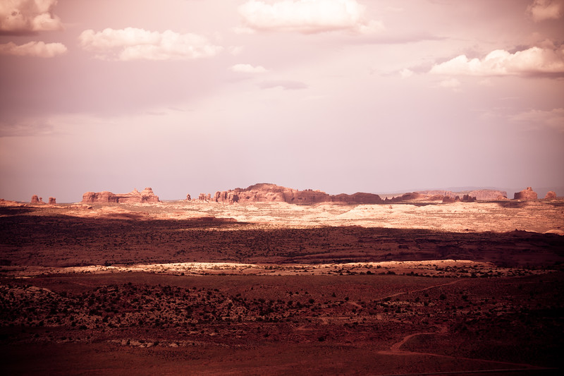 Arches National Park - from the Gemini Bridge turn off.