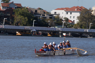Noosa Outrigger Club lads at Brisbane River Challenge
