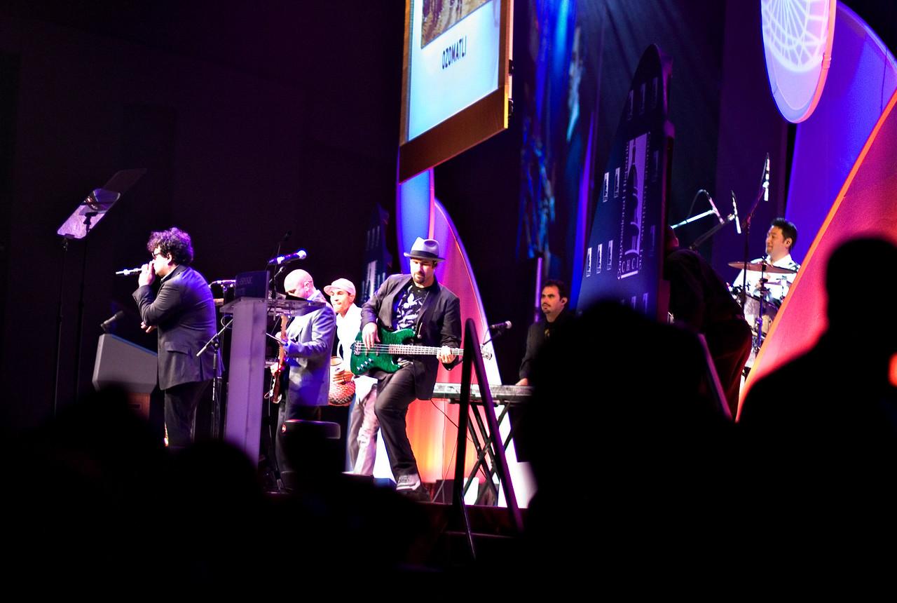 Ozomatli, L.A. Latino-urban-funk-fusion band at the Hispanic Caucus Gala on September 16, 2009