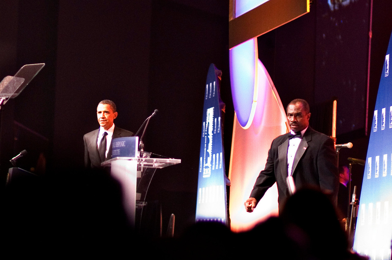 President Obama at the Hispanic Caucus Gala on September 16, 2009
