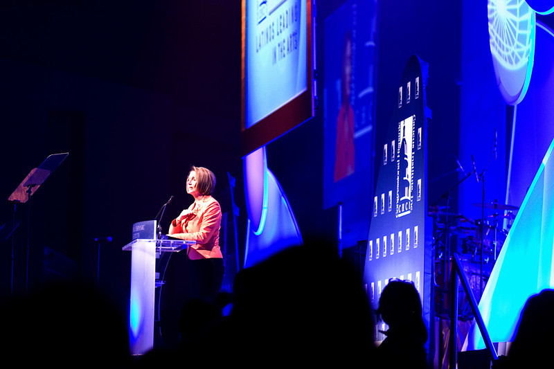 House Speaker Nancy Pelosi at the Hispanic Caucus Gala on September 16, 2009