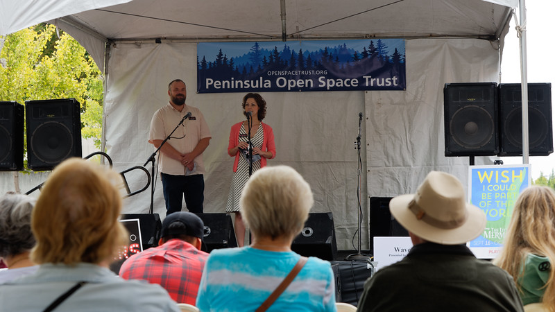 Patrick Klein and Elizabeth Santana introduce the performers.
