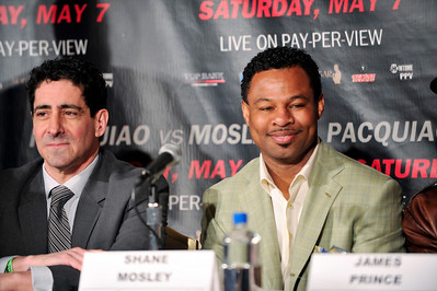 Manny Paquiao  Eighth Division World Champion and Shane Mosley Three-Division World Champion hold Press Conference at the Beverly Hills Hotel in Preparation for there upcoming 12 Rounds- World Welterweight Championship Fight at the MGM Grand Garden Arena in Las Vegas on May 7, 2011. Sugar Shane Mosley and Ken Hershman Valerie Goodloe