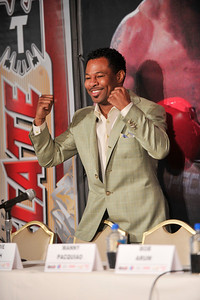 Manny Paquiao  Eighth Division World Champion and Shane Mosley Three-Division World Champion hold Press Conference at the Beverly Hills Hotel in Preparation for there upcoming 12 Rounds- World Welterweight Championship Fight at the MGM Grand Garden Arena in Las Vegas on May 7, 2011.  Valerie Goodloe
