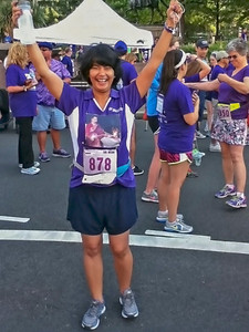 All ready to start the run in Ma's honor.....