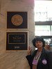 Standing with an attitude outside senator Udall's office....
