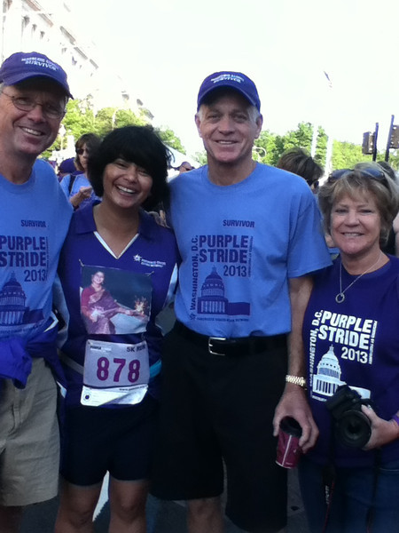 Meeting pancreatic cancer survivors was the best part. This is why I volunteer, for survivors.....