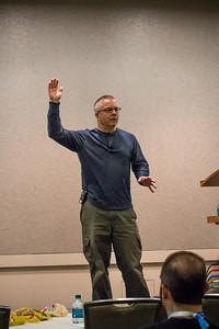 Peter Kral presenting  at Speaker Idol