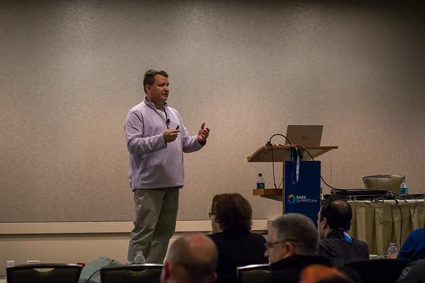 Robert Verell presenting at Speaker Idol