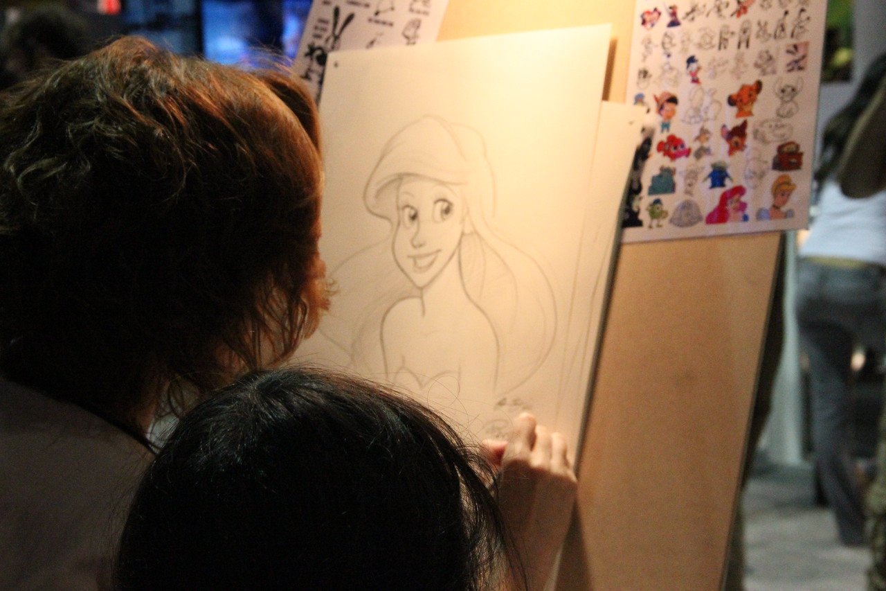 Illustrators were on hand at the Disney booth to sketch your favorite character.