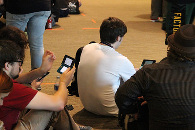 Attendees didn't waste downtime waiting in lines for the dozens of panel discussions. They spent the time gaming.