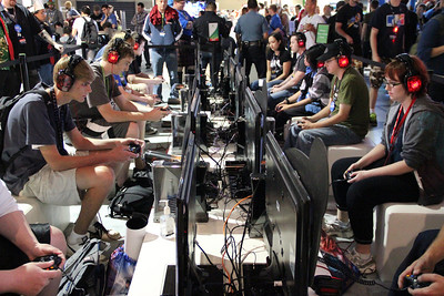 PAX attendees can play console games, PC games and even arcade games (minus the quarters).