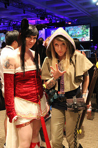 Costumes were everyone with people dressing up as their favorite game characters.
