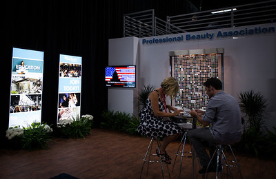 PBA booth and lounge at Cosmoprof North America 2013.