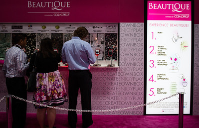 The Beautique area at Cosmoprof North America. A unique sampling concept that benefited City of Hope.