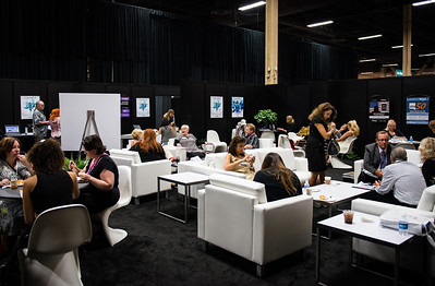 Press room at Cosmoprof North America 2013.