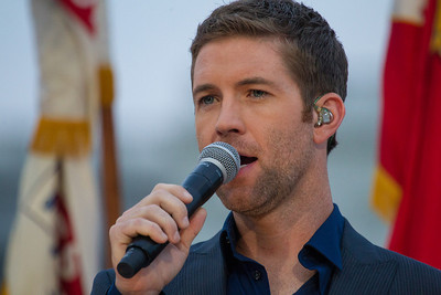 Josh Turner, country music star sings the National Anthem