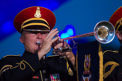 The U.S. Army Herald Trumpets are the official fanfare ensemble for the President of the United States