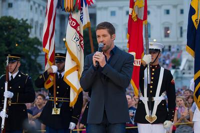 Josh Turner sings the National Anthem