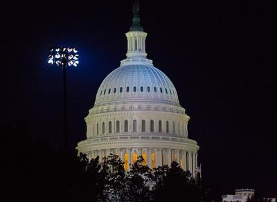 U.S. Capitol Dome at Night