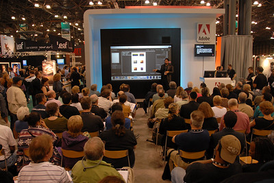 Adobe Theater. Images from PDN Magazine's PhotoPlus Expo & Conference which is an annual event was held at Jacob K. Javits Convention Center, New York, USA. I attended this in October 2007.