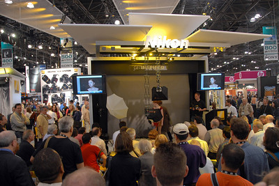 Nikon's Get Inspired - Master photographer teaching techniques and the results on display on screen.  Images from PDN Magazine's PhotoPlus Expo & Conference which is an annual event was held at Jacob K. Javits Convention Center, New York, USA. I attended this in October 2007.
