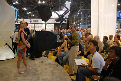 Joe McNally has a session on photography lighting Nikon's Get Inspired - Master photographer teaching techniques & the results being seens in real time on the display screen.  Images from PDN Magazine's PhotoPlus Expo & Conference which is an annual event was held at Jacob K. Javits Convention Center, New York, USA. I attended this in October 2007.