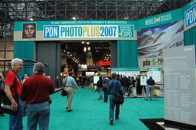 Entrance. Images from PDN Magazine's PhotoPlus Expo & Conference which is an annual event was held at Jacob K. Javits Convention Center, New York, USA. I attended this in October 2007.