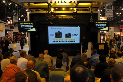 Two new D-SLRs from Nikon D3 and D300.  Images from PDN Magazine's PhotoPlus Expo & Conference which is an annual event was held at Jacob K. Javits Convention Center, New York, USA. I attended this in October 2007.