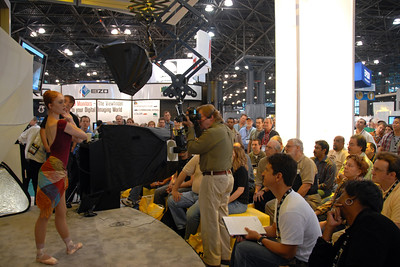 Joe McNally has a session on photography lighting Nikon's Get Inspired - Master photographer teaching techniques.  Images from PDN Magazine's PhotoPlus Expo & Conference which is an annual event was held at Jacob K. Javits Convention Center, New York, USA. I attended this in October 2007.