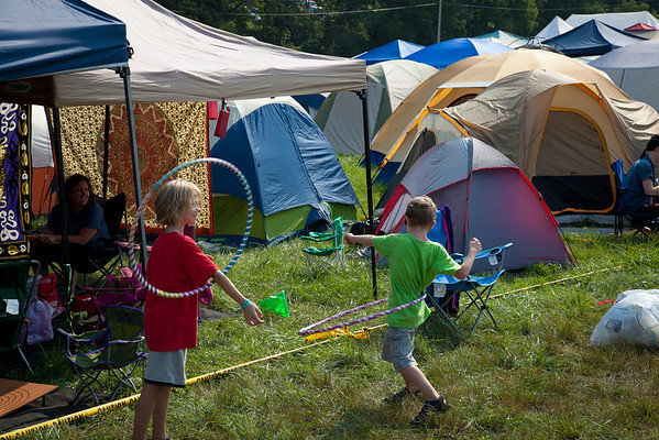 Children at play in the campground.(Howard Pitkow/for Newsworks)