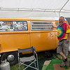 They're were quite a few vintage camping vehicles onsite including this 1974 VW pop top camper. (Howard Pitkow/for Newsworks)