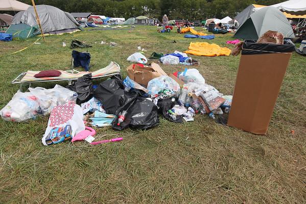 Trash left behind on Moday morning. (Howard Pitkow/for Newsworks)