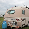 This vintage Dodge travel trailer has a pair of solar panels mounted on the roof. (Howard Pitkow/for Newsworks)